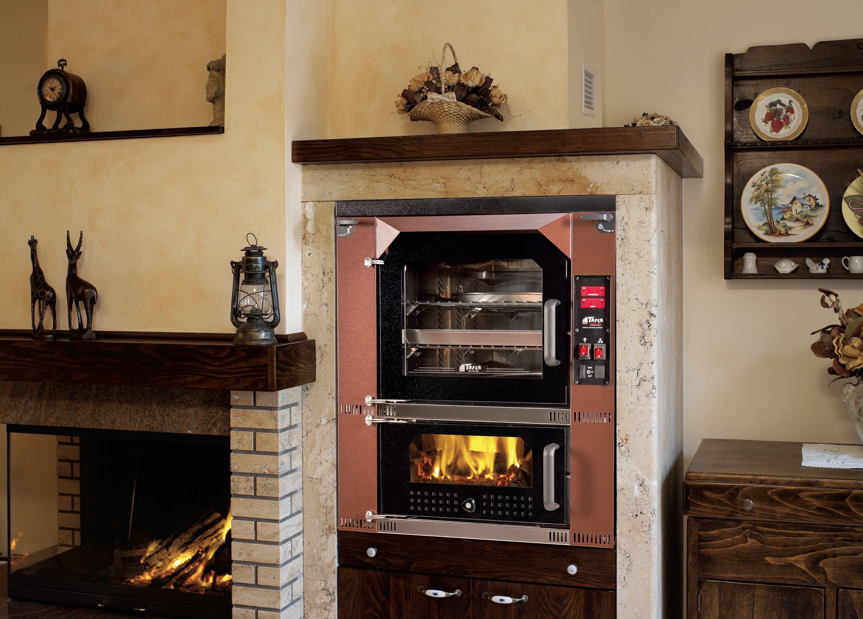 Forni a legna con stufa riscaldamento